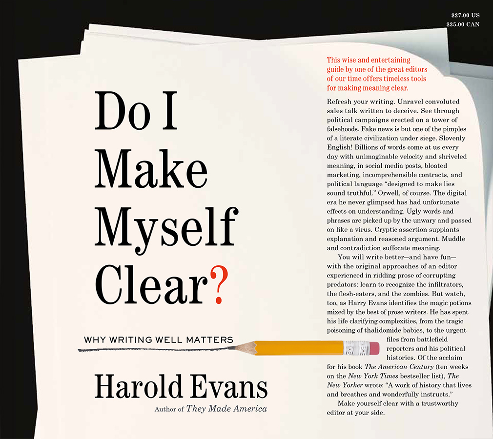 Harold evans official website do i make myself clear solutioingenieria Images